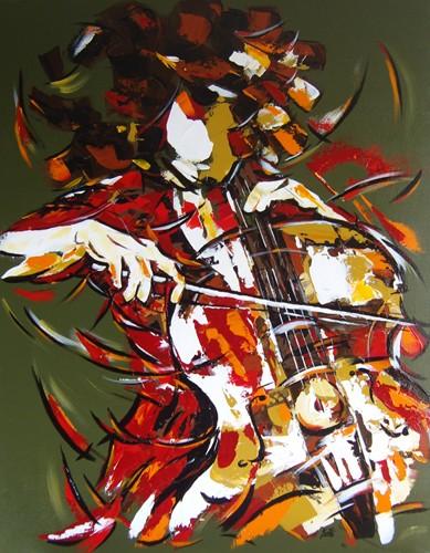 La violoncelliste   90x70  Vendu