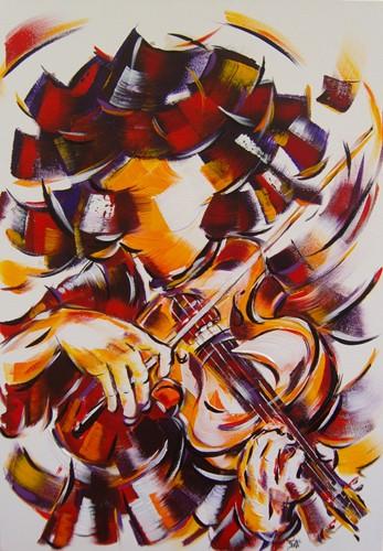 La violoniste 70x50  Vendu