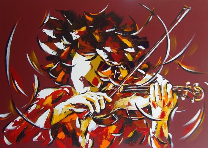 Le violoniste 70x50   Dispo